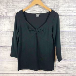 Ann Taylor knot front long sleeve top
